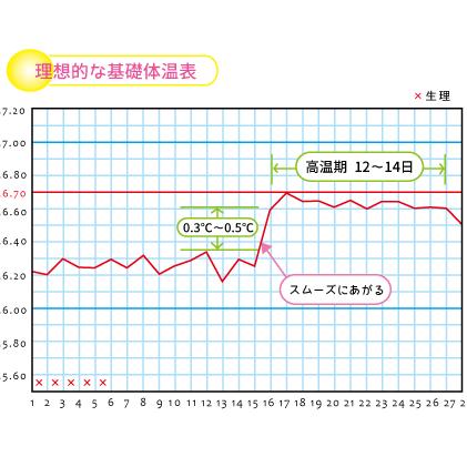 基礎体温表の読み方