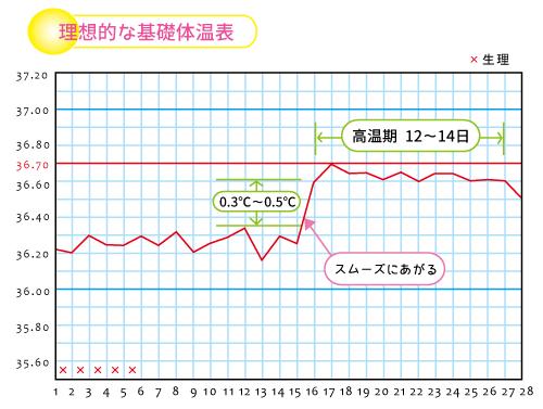 理想的な基礎体温表★岡田厚生堂薬局