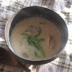 牡蠣とコーンのミルクスープ
